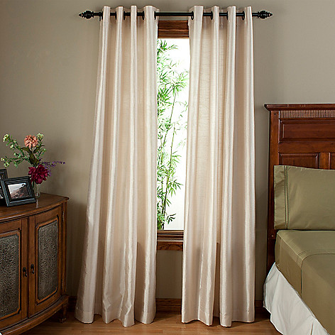 402-151 - North Shore Linens™ Curtain Panels w/ Grommets - Set of Two