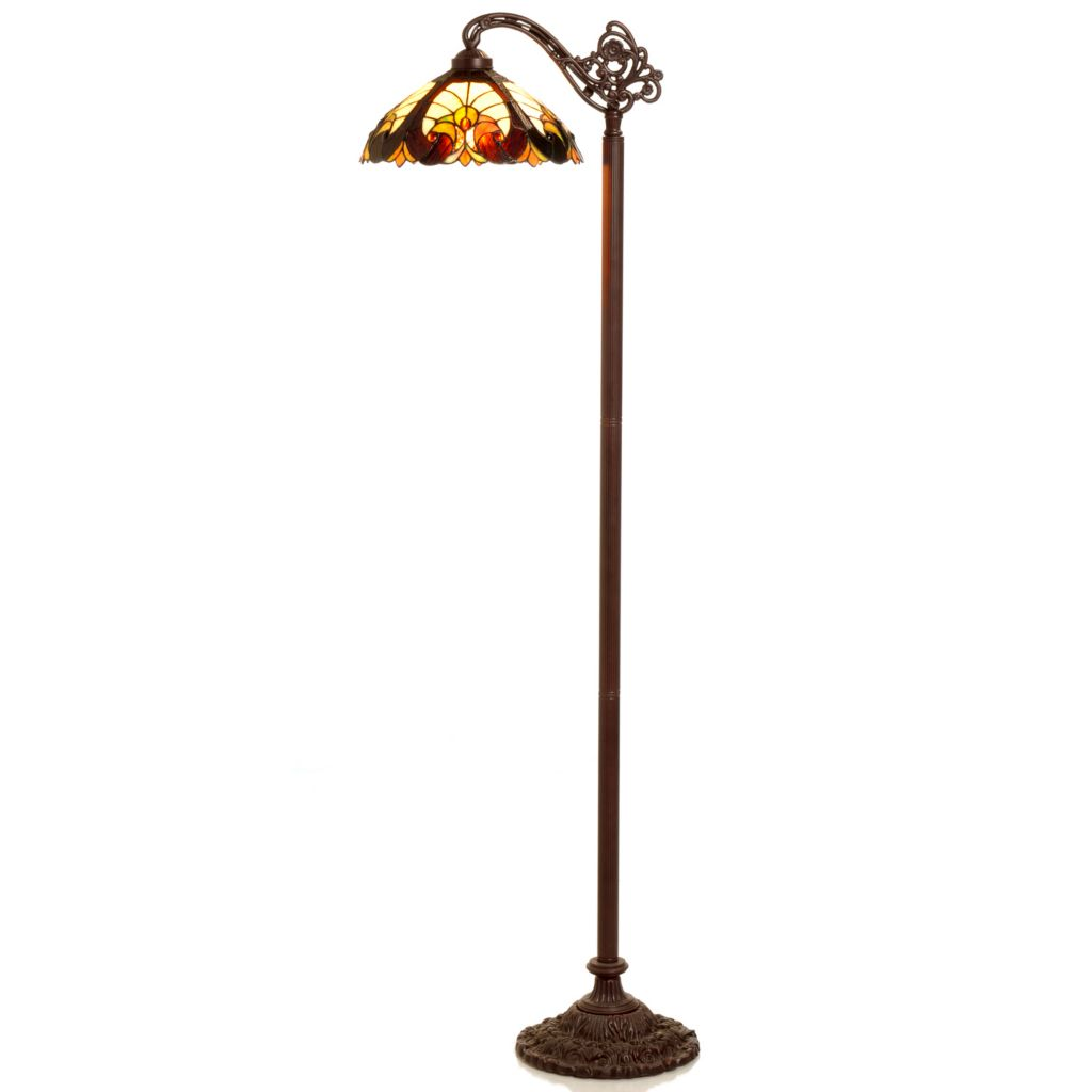 "402-179 - Tiffany-Style 62"" Halston Stained Glass Floor Lamp"