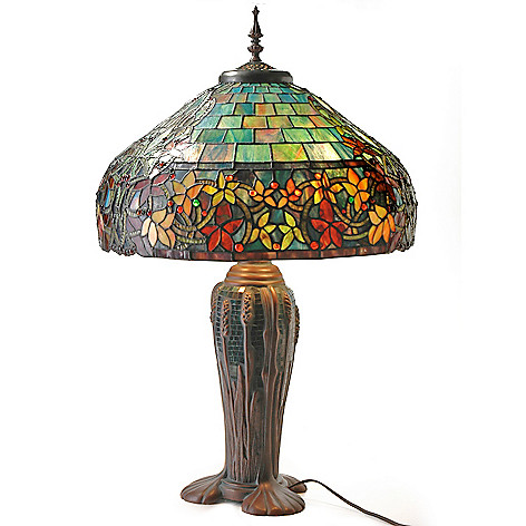 402-541 - Tiffany-Style 30.5'' Hampstead Stained Glass Table Lamp with Mosaic Base