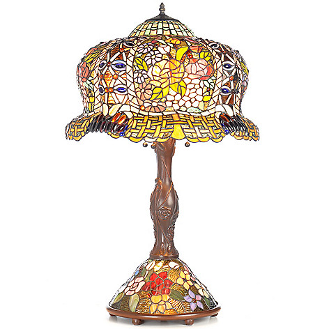 402-794 - Tiffany-Style 33.25'' Constantine Double-Lit Stained Glass Table Lamp