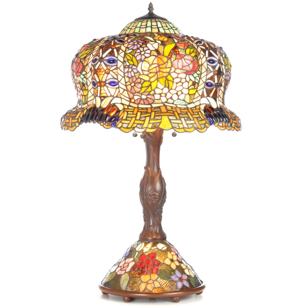 "402-794 - Tiffany-Style 33.25"" Constantine Double-Lit Stained Glass Table Lamp"