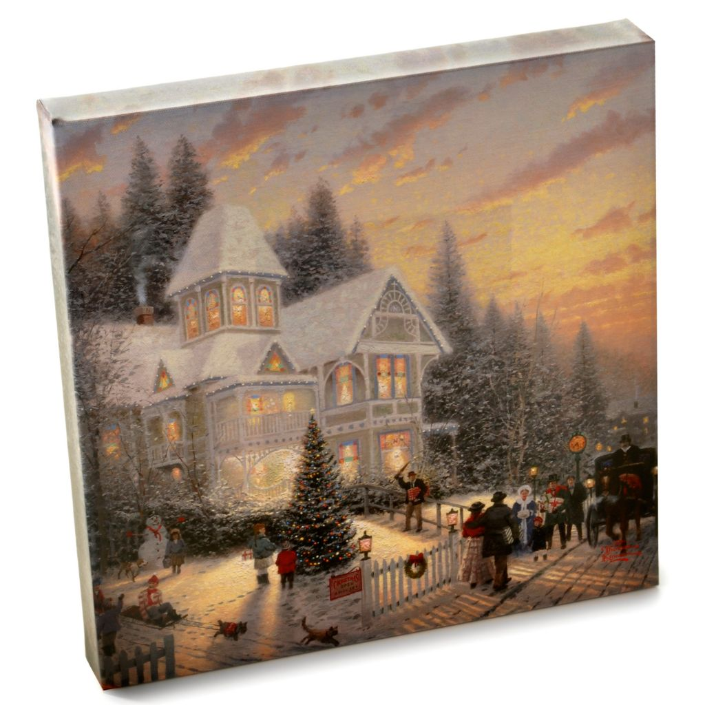 "403-218 - Thomas Kinkade Gallery Wrapped Canvas 14"" X 14"" Holiday Collection"