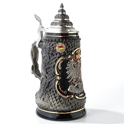 404-342 - King-Werk Limited Edition ''Deutschland Pewter Eagle'' Handcrafted Stoneware Stein
