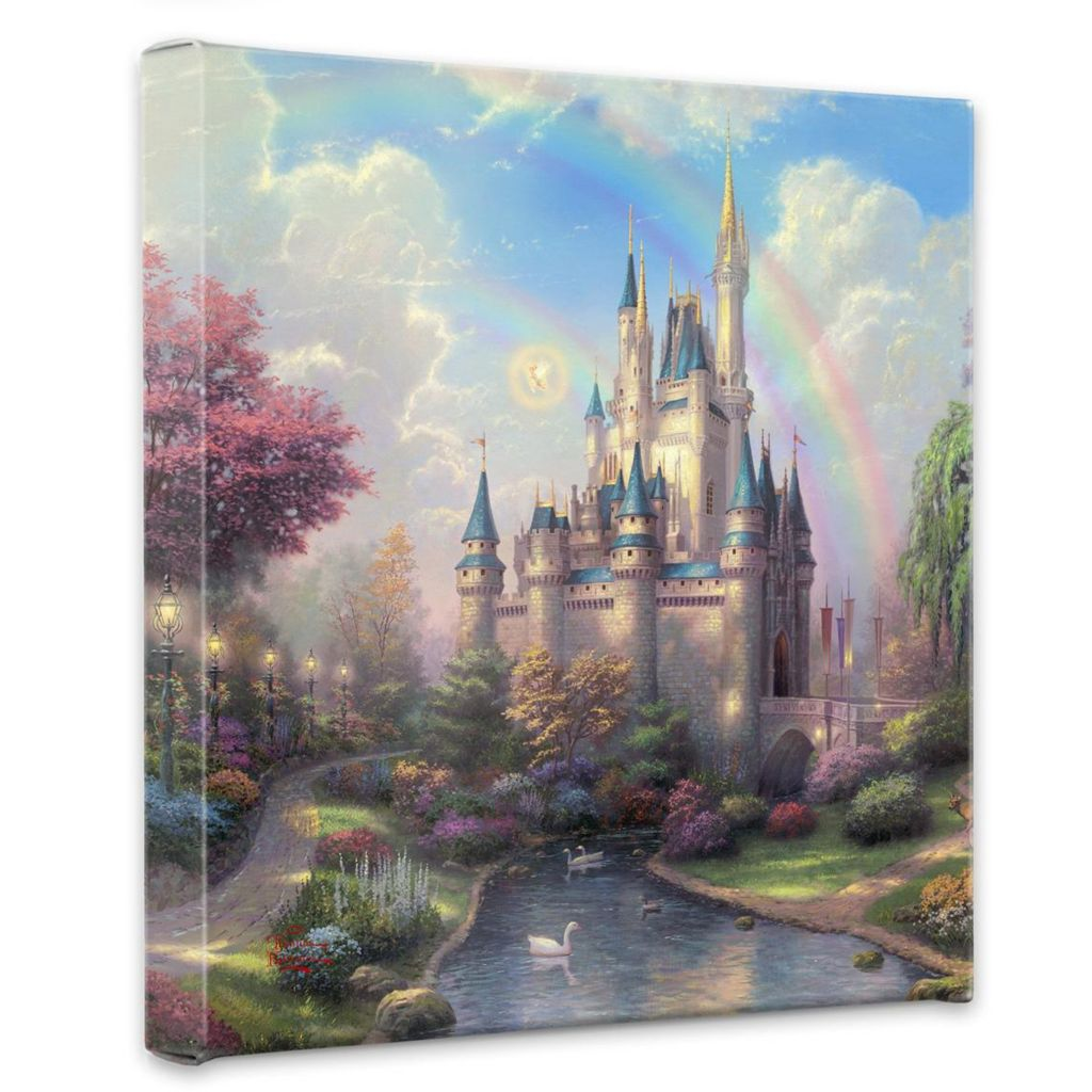 "405-011 - Thomas Kinkade ""A New Day at the Cinderella Castle"" 14"" x 14"" Gallery Wrap"