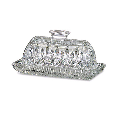 405-174 - Waterford® Crystal Lismore 3.75'' Covered Butter Dish - Signed by Jorge Pérez