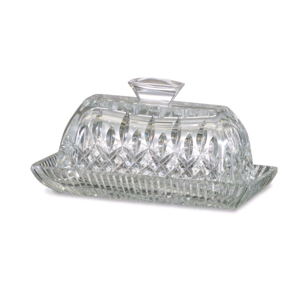 "405-174 - Waterford® Crystal Lismore 3.75"" Covered Butter Dish - Signed by Jorge Pérez"