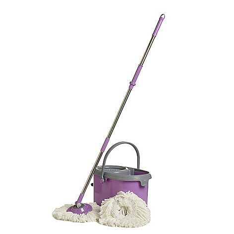 405-413 - Deluxe Spin Mop w/ Two Mop Heads & Dual Spinning Bucket