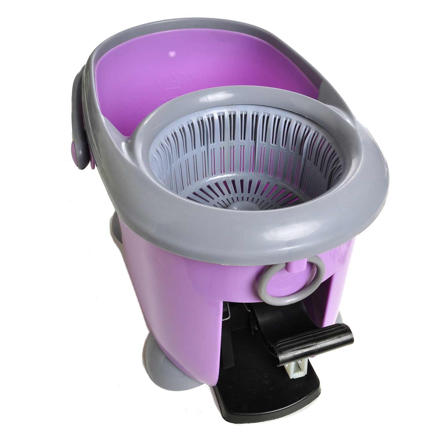 360 Magic Deluxe Spin Mop Footed Bucket 1 Mop Head Grey
