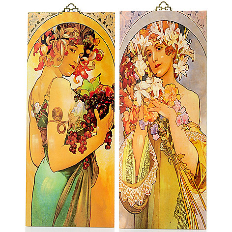 405-577 - Style at Home with Margie 29'' Two-Piece Aroma of Spring Mucha Reversible Wall Panels