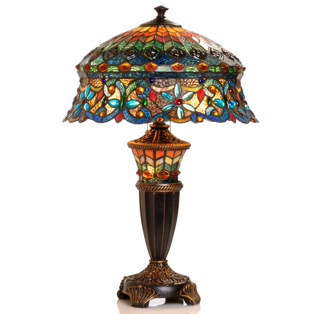 "405-766 - 27"" Annelise Double-Lit Stained Glass Table Lamp"
