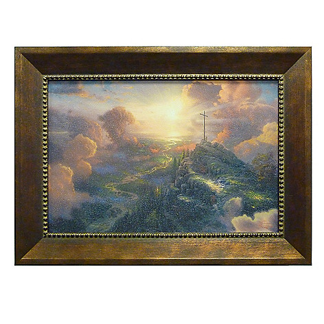 405-788 - Thomas Kinkade ''The Cross'' Framed Textured Print