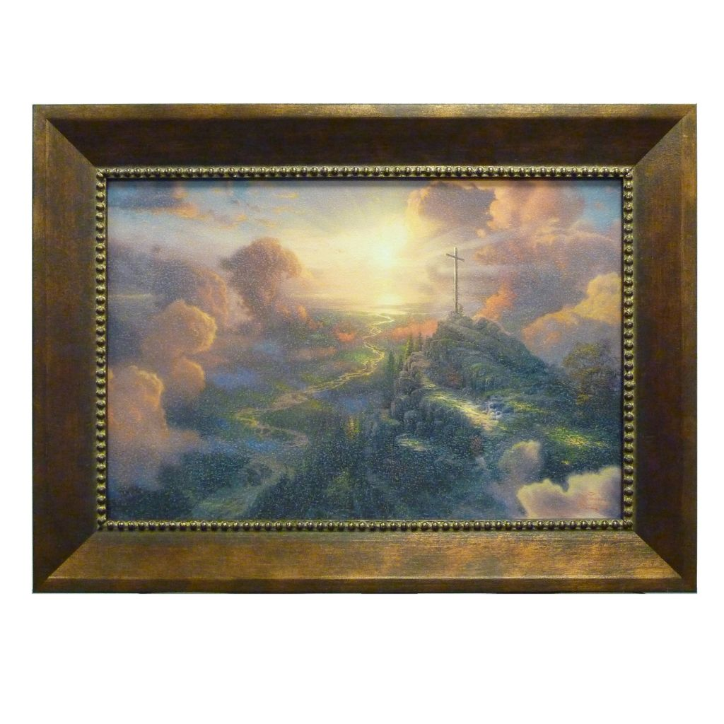 "405-788 - Thomas Kinkade ""The Cross"" Framed Textured Print"