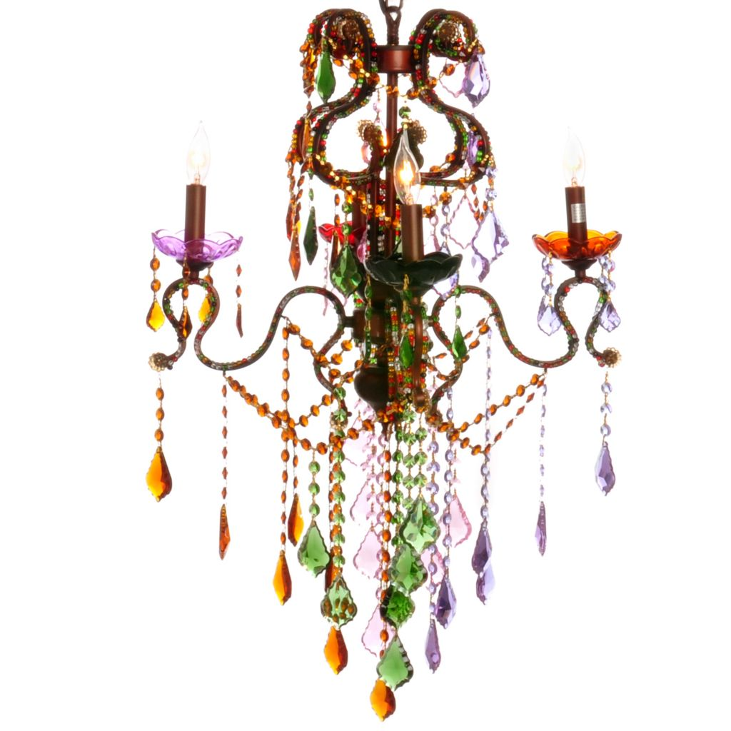 "405-956 - Style at Home with Margie 20"" Carnival Crystal Chandelier"
