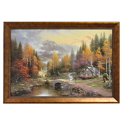 406-057 - Thomas Kinkade ''Valley of Peace'' Framed Textured Print