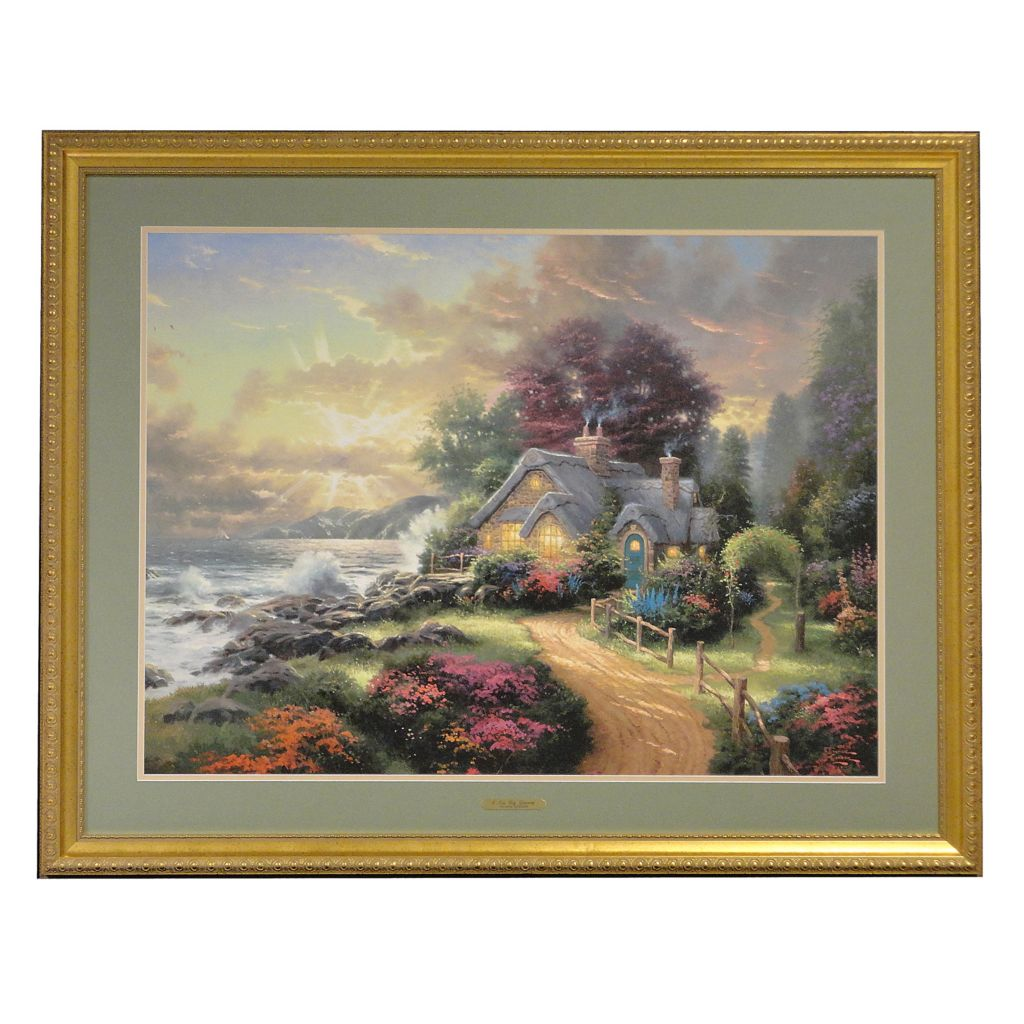 "406-062 - Thomas Kinkade ""A New Day Dawning"" Framed Print"