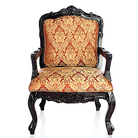 406-219 - Upholstered Leopard Print Arm Chair