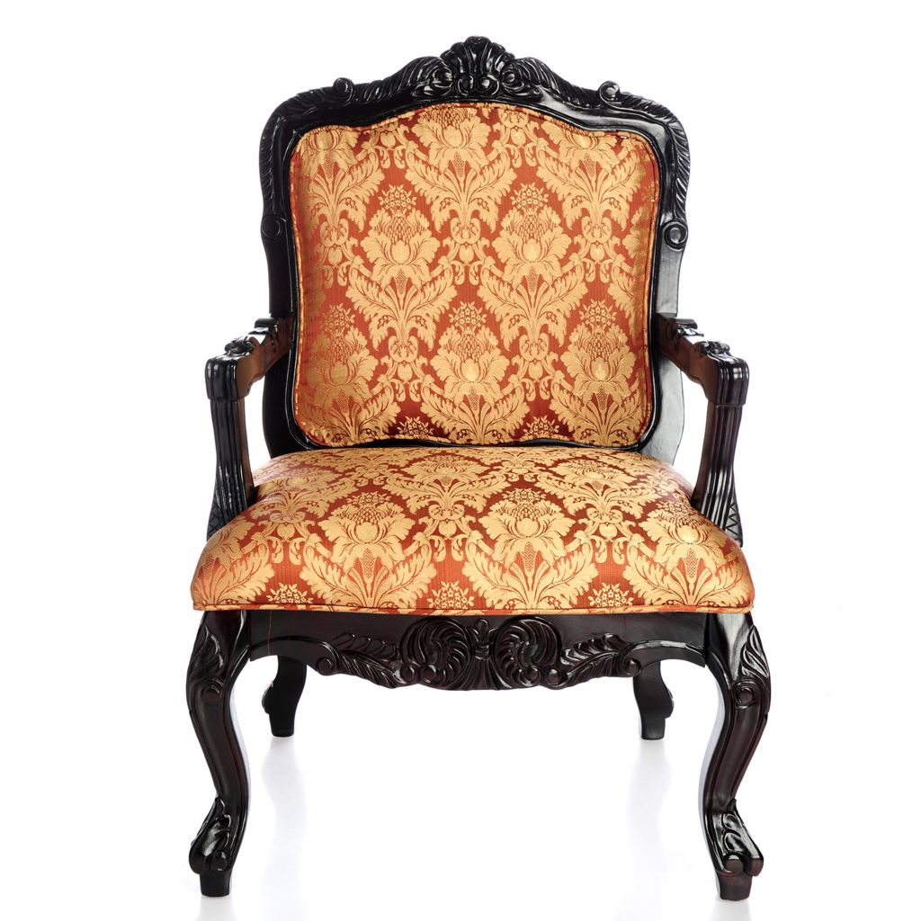 "406-219 - Style at Home with Margie 40.75"" Upholstered Leopard Print Arm Chair"
