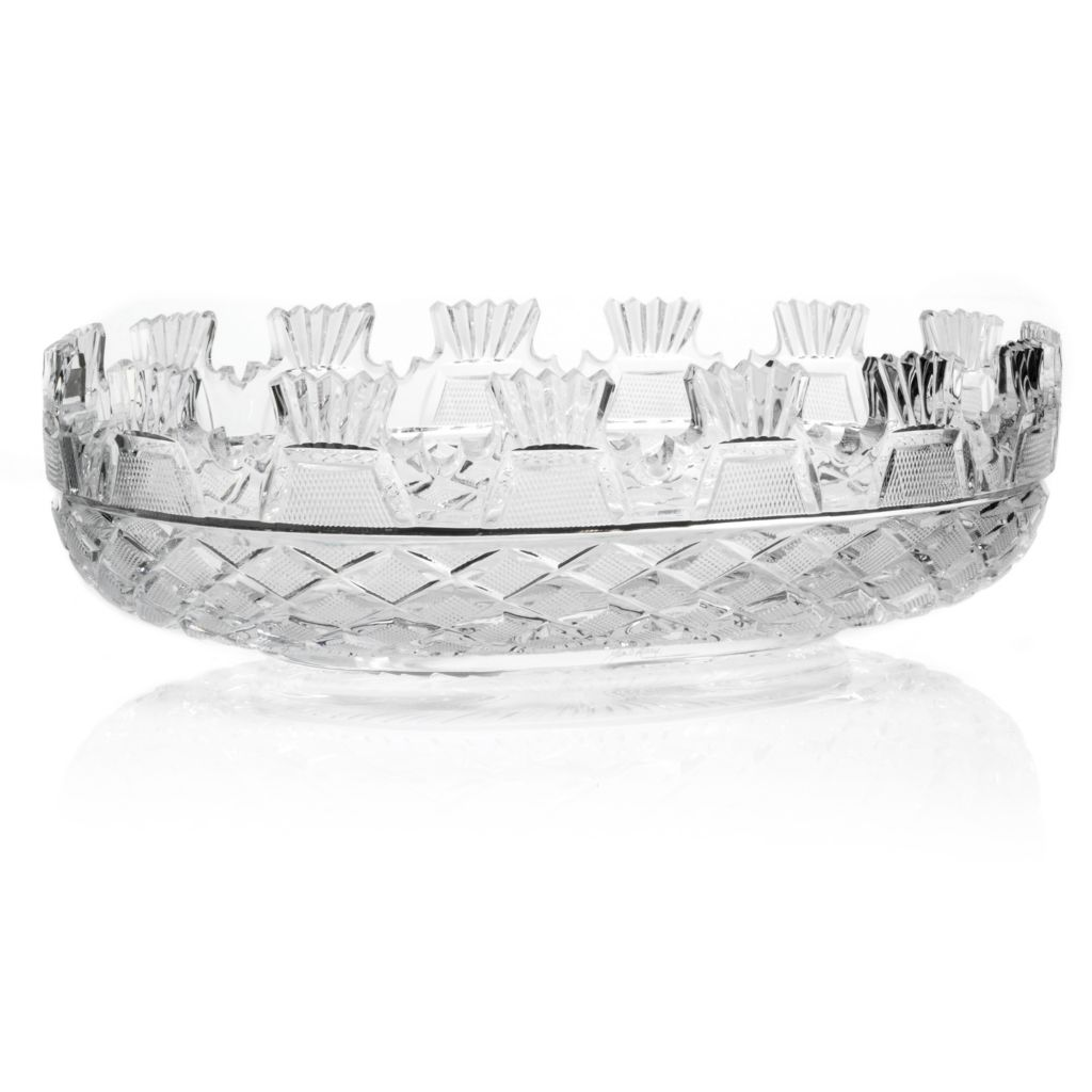 "406-308 - House of Waterford® Prestige Collection 14"" Crystal Oval Kennedy Bowl"