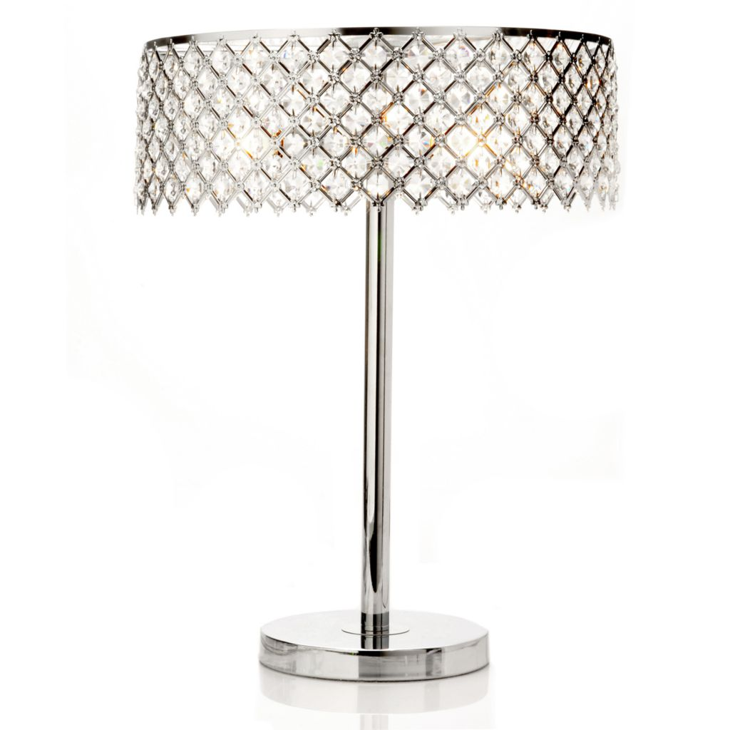"406-344 - 21.5"" Starlight Crystal Table Lamp"