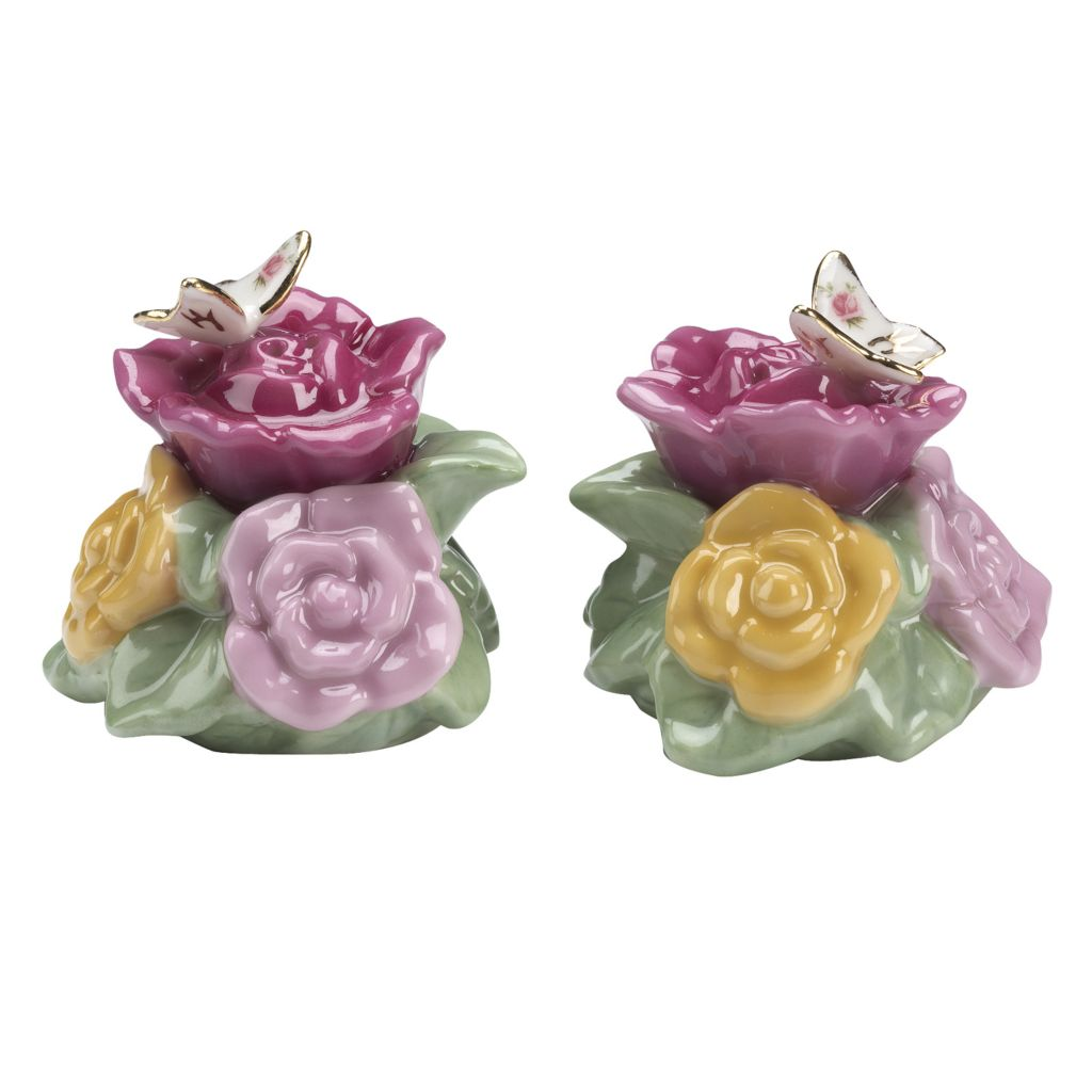 "406-364 - Royal Albert® Old Country Roses 2"" Porcelain Butterfly Salt & Pepper Set"