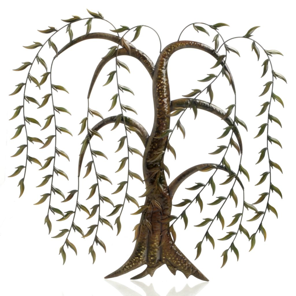 "406-518 - Style at Home with Margie 36.5"" Hanging Leaves Iron Wall Decor"