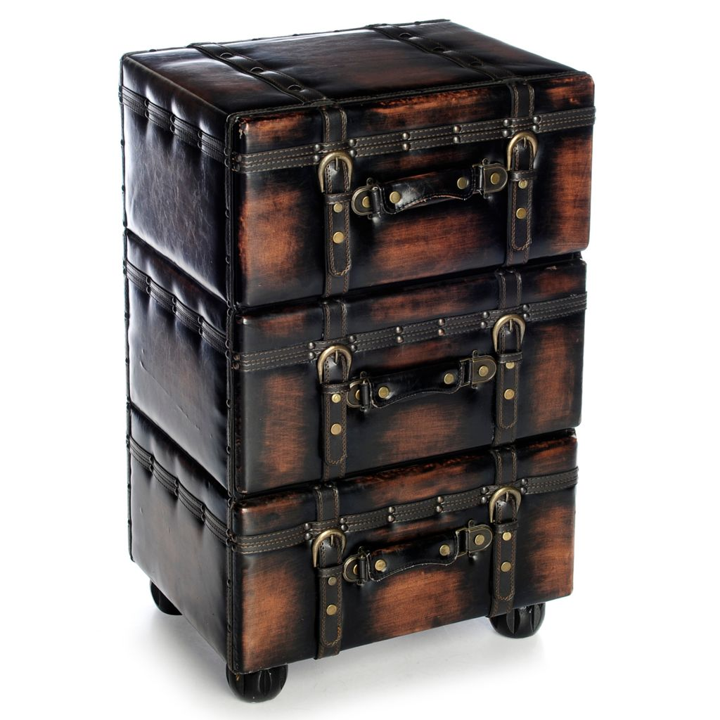 "406-810 - Style at Home with Margie 25.75"" Rustic Brown 3-Drawer Cabinet"