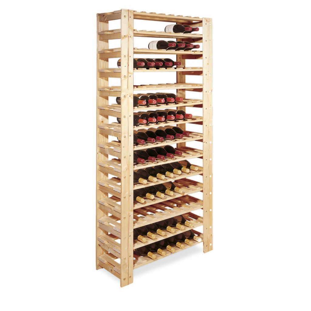 407-515 - Swedish 126 Bottle Wine Rack (Natural)