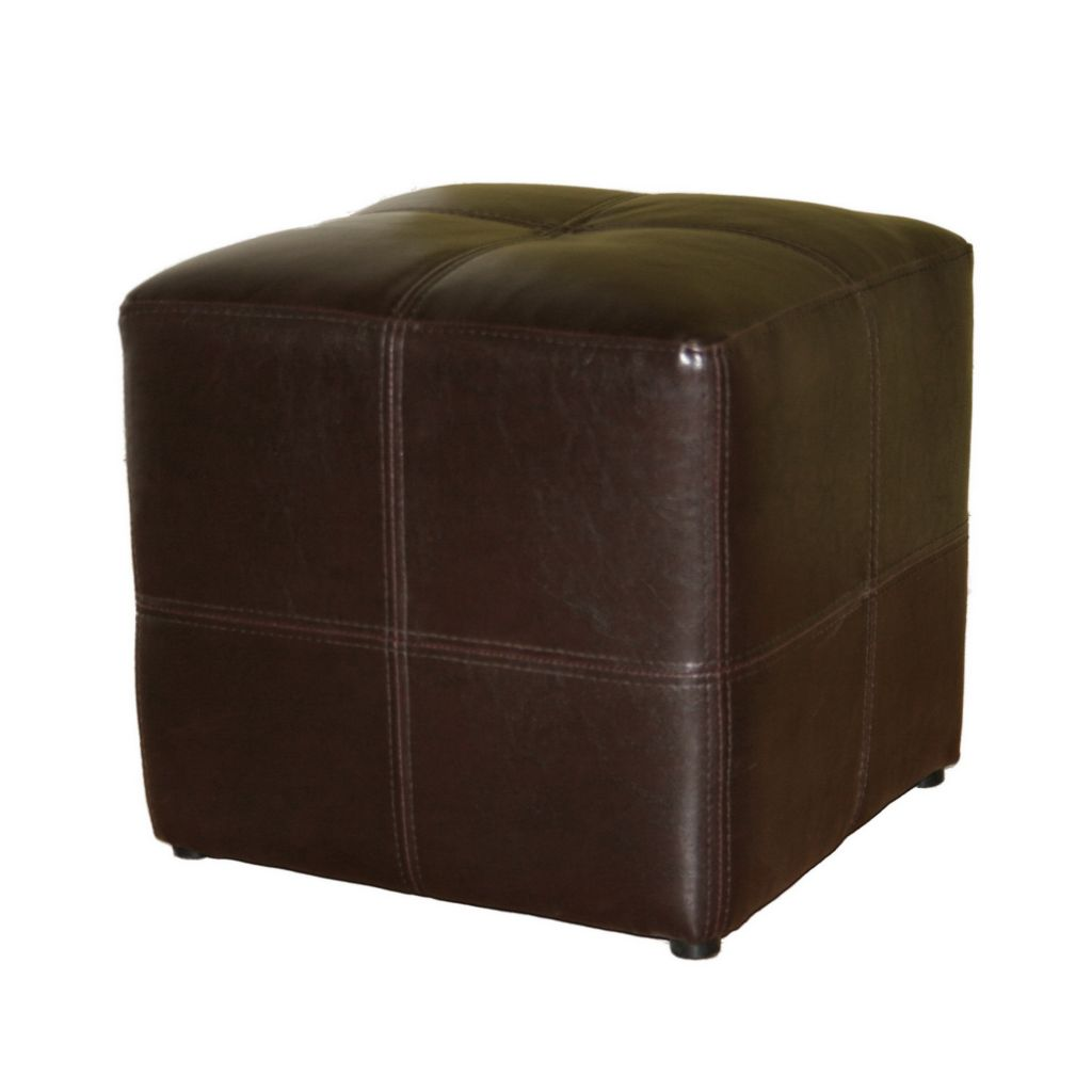 408-489 - Baxton Studio Dark Brown Bonded Leather Ottoman