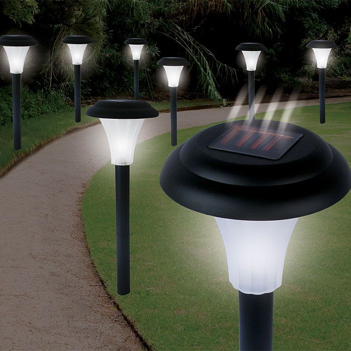 410-714 - Bright Solar Set of Eight Cordless Accent Lights
