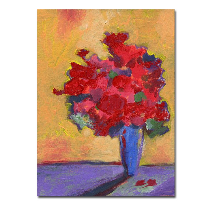 """411-215 - Contemporary Bouquet by Sheila Golden Reproduction 14"""" x 19"""" Gallery Wrap"""