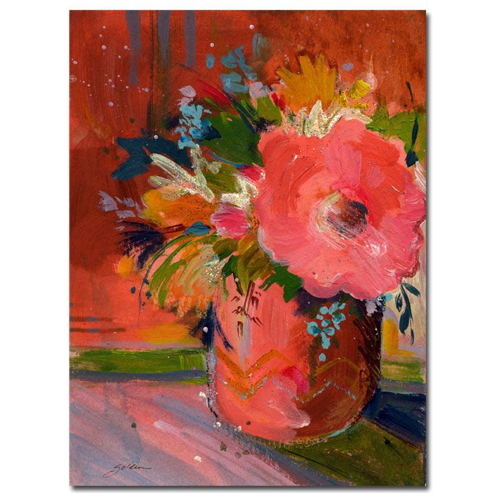 "411-217 - Coral Glitter by Sheila Golden Reproduction 18"" x 24"" Painting on Canvas"