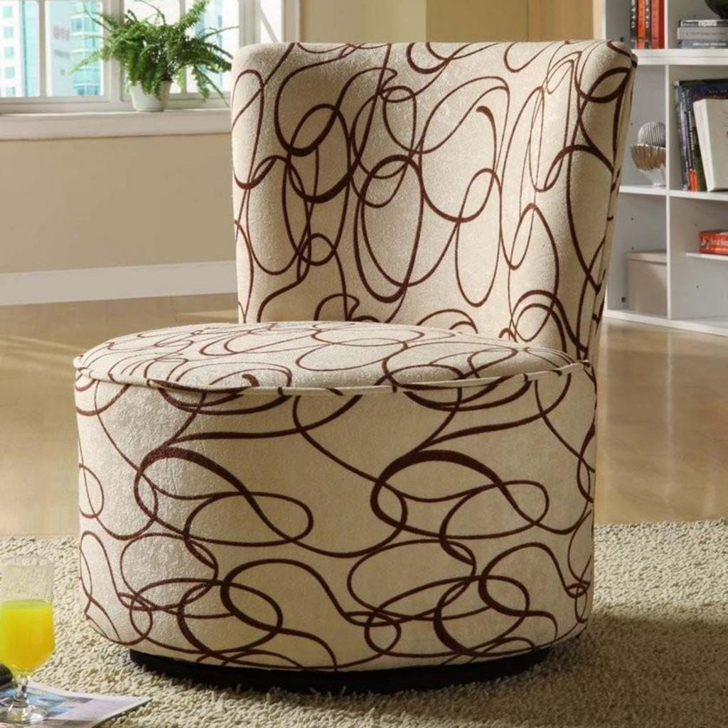 411-293 - HomeBasica Round Swivel Chair