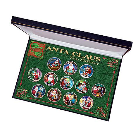 "411-588 -  ""Santa Claus"" Colorized John F. Kennedy Half Dollar Set"