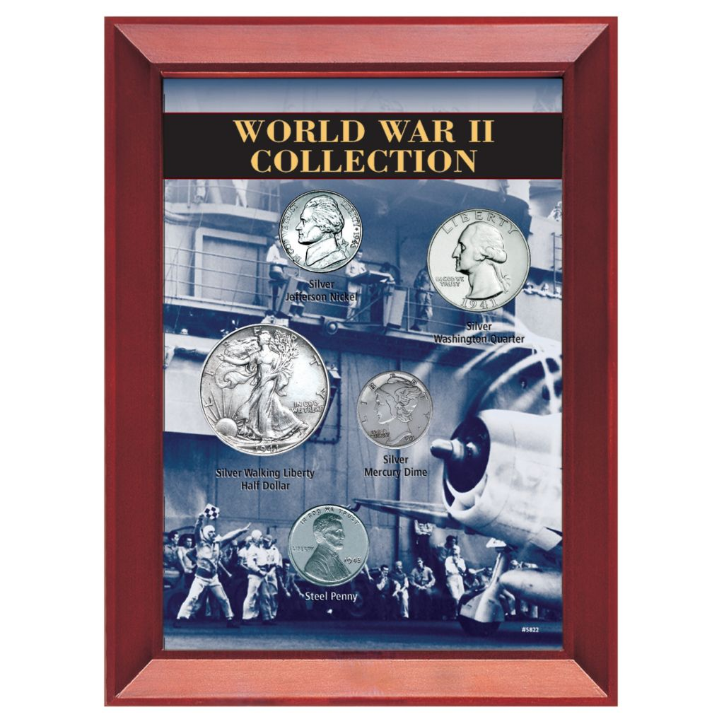 411-600 - World War II Five Piece Coin Set
