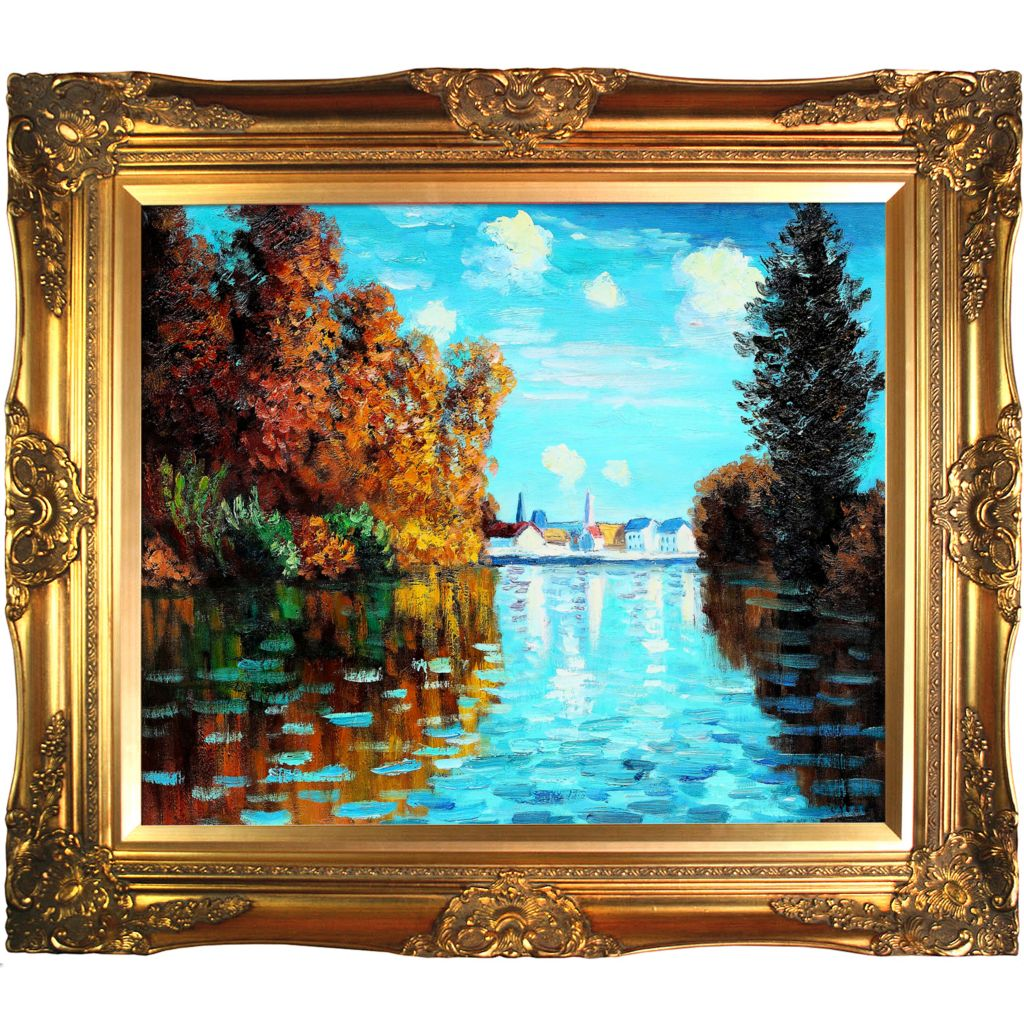 412-162 - Autumn at Argenteuil Reproduction Oil Painting on Canvas