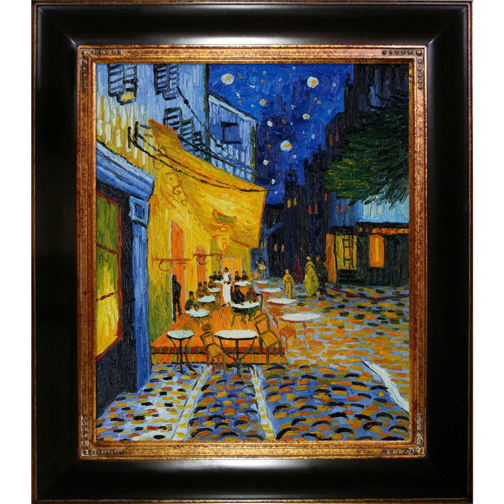 412-218 - Cafe Terrace On The Place Du Forum At Night By Vincent Van Gogh Reproduction Oil Painting On Canvas