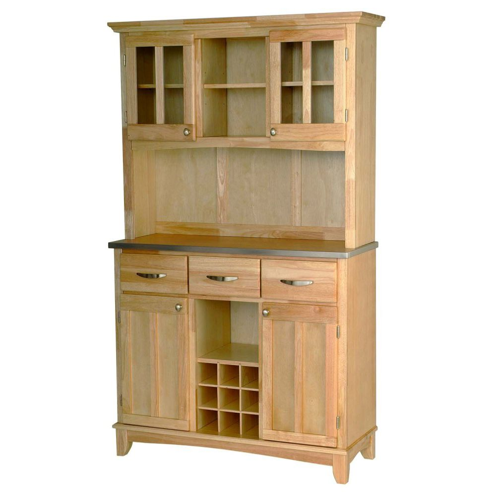 412-344 - Home Styles Stainless Steel Top Large Server w/ Two Door Hutch