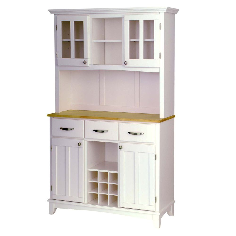 412-348 - Home Styles Natural Top Large Server w/ Two Door Hutch