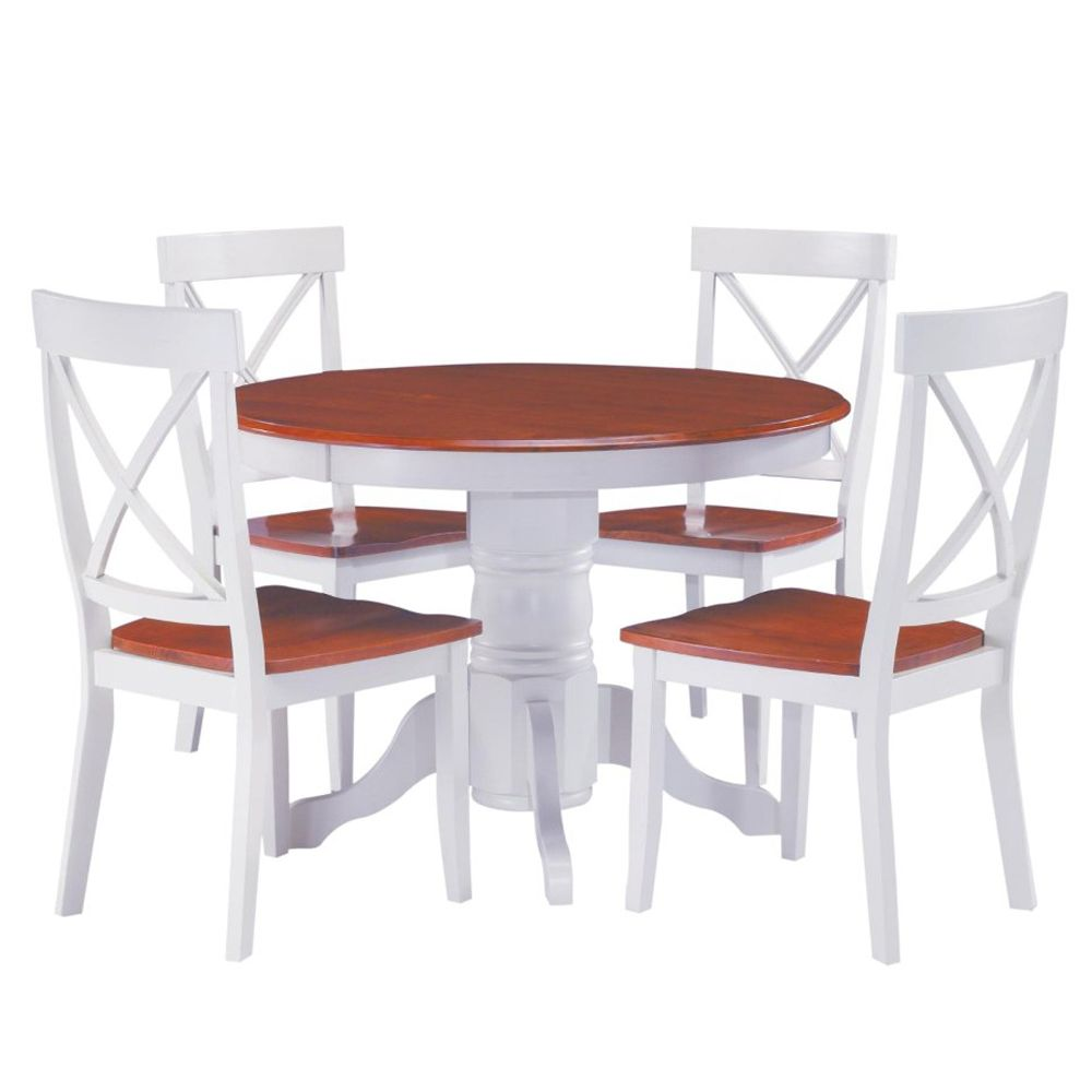412-355 - Home Styles Five-Piece Round Pedestal Dining Set
