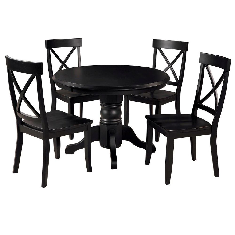412-359 - Home Styles Five-Piece Solid Color Round Pedestal Dining Set