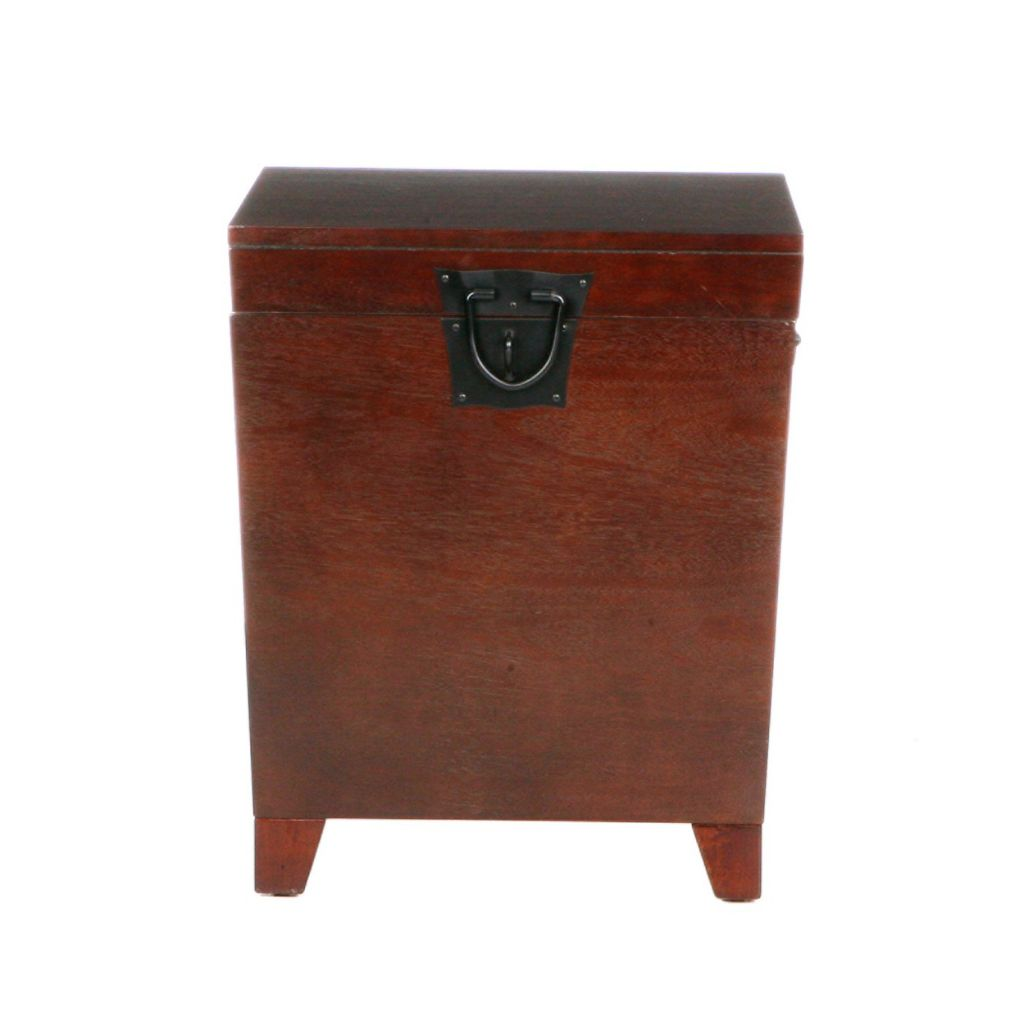 412-886 - Espresso Pyramid Trunk End Table