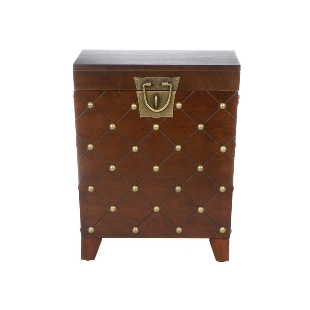 412-891 - Espresso Nailhead Trunk End Table