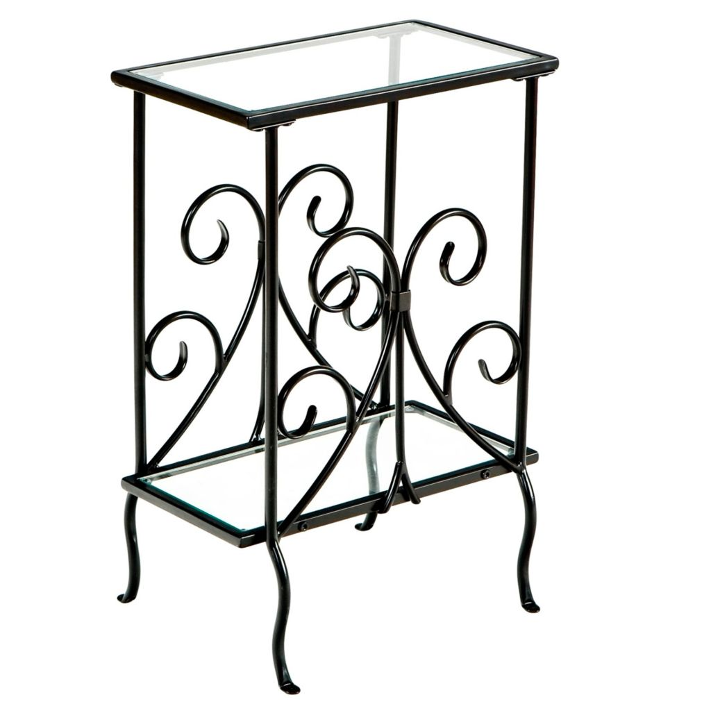 413-011 - Decorative Metal Magazine Table