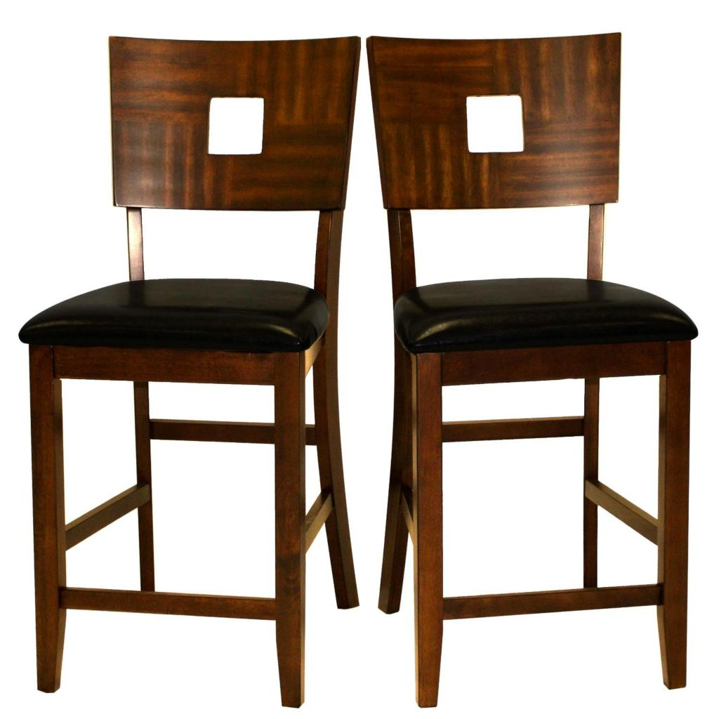 "414-342 - HomeBasica 42"" Counter-Height Chairs- Set of Two"