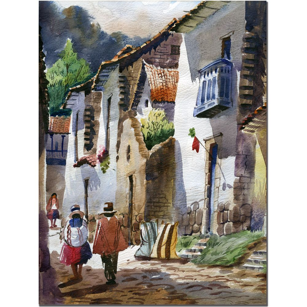 """415-354 - Cuzco III by Jimenez 24"""" x 32"""" Gallery Wrap"""