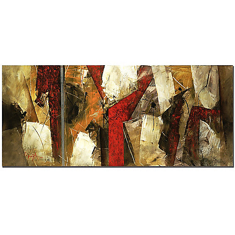 415-364 - Abstract IX by Lopez 14'' x 32'' Gallery Wrap Canvas Artwork