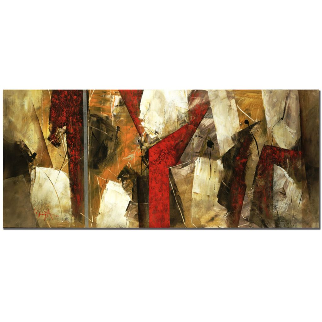 "415-364 - Abstract IX by Lopez 14"" x 32"" Gallery Wrap Canvas Artwork"