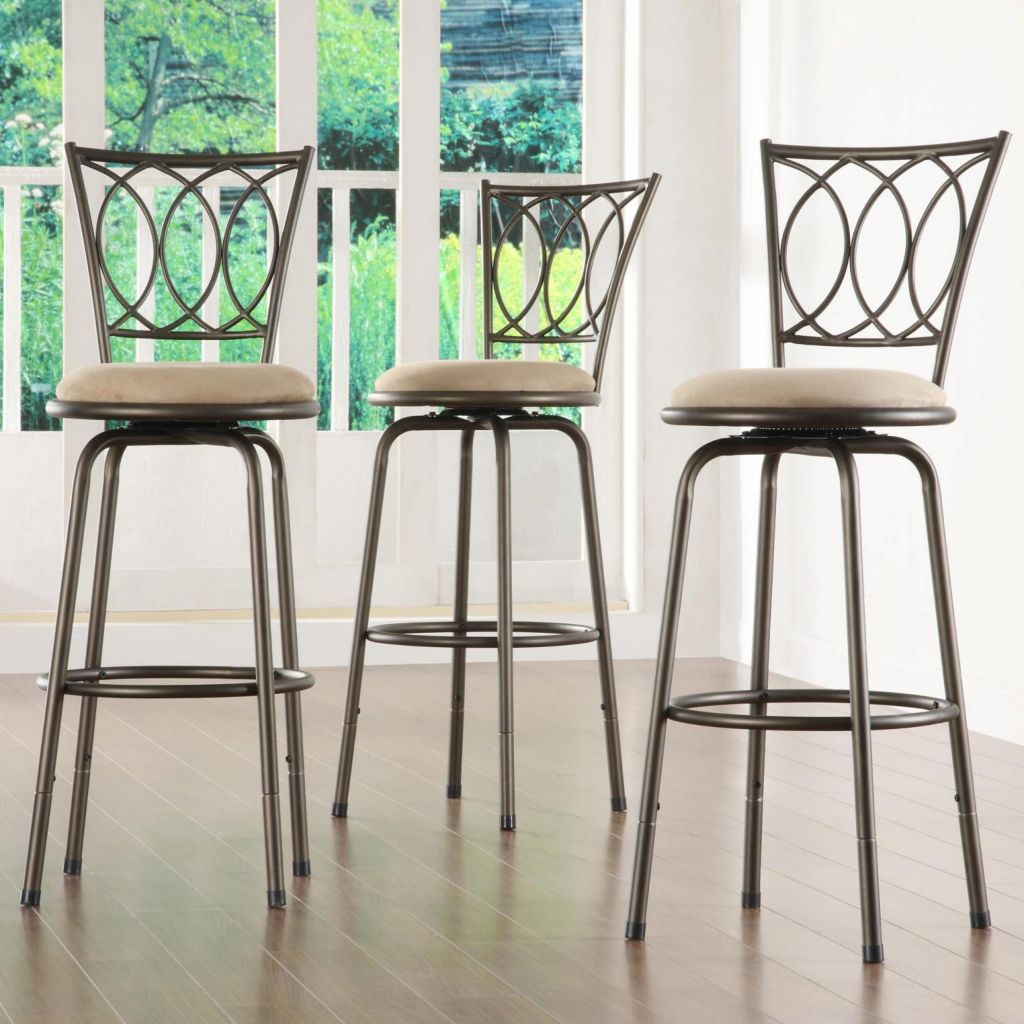 415-950 - SCROLL BACK BARSTOOLS (SET OF 3)