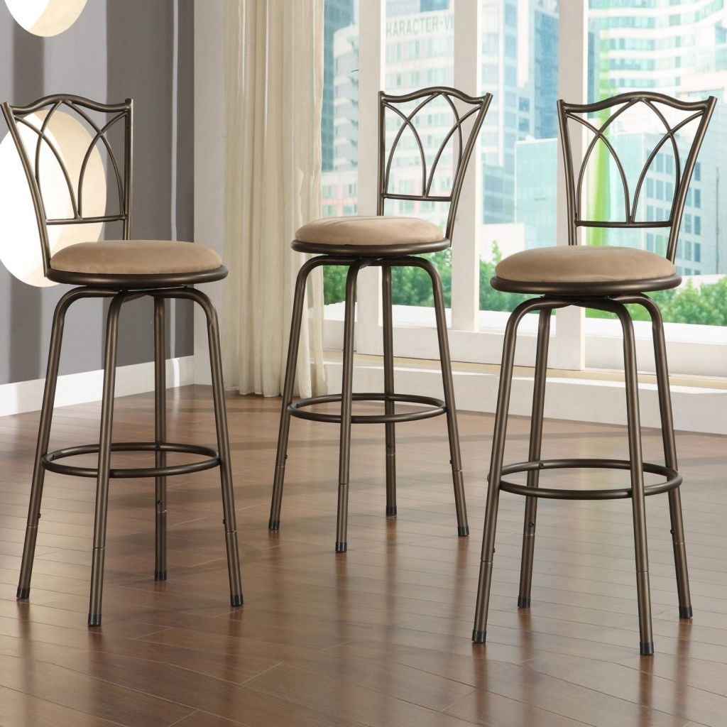 415-952 - HomeBasica Double Cross Back Bar Stools - Set of Three