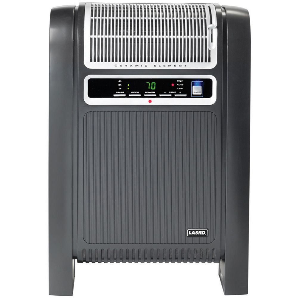 418-617 - Lasko 760000 Cyclonic Ceramic Heater w/ Remote Control & Fresh Air Ionizer Option